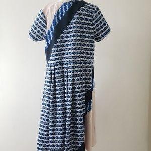 Eloquii Dresses - Eloquii sz16 scuba fit & flare blue, black dress